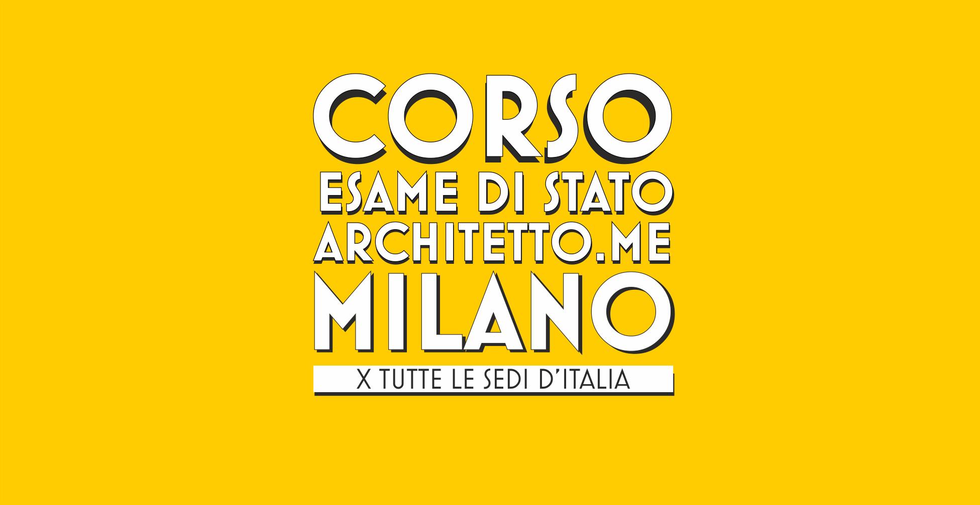 Corso esame di stato architetto frontale a milano corso for Lavoro architetto milano